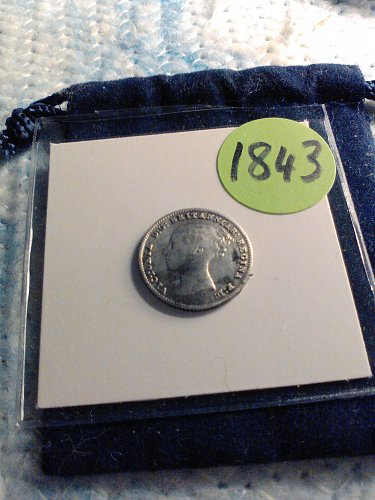 1843 SILVER BRITISH 4 PENCE