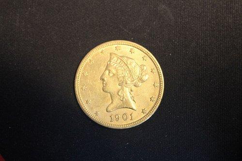 1901 P $10 Gold Eagle