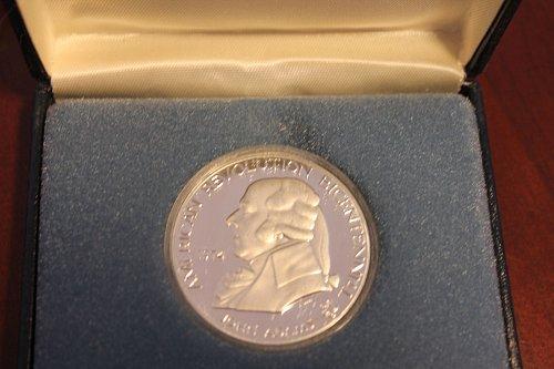 1974 John Adams 90 % SILVER US Mint Bicentennial Proof Coin Medal Box & COA