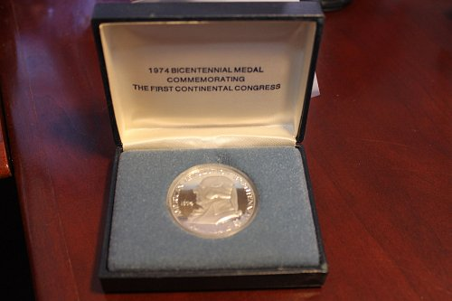 1974 John Adams 90 % SILVER US Mint Bicentennial Proof Coin Medal Box & COA