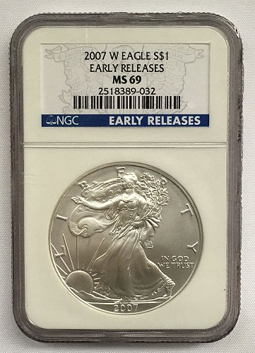 2007 W American Silver Eagle NGS MS-69