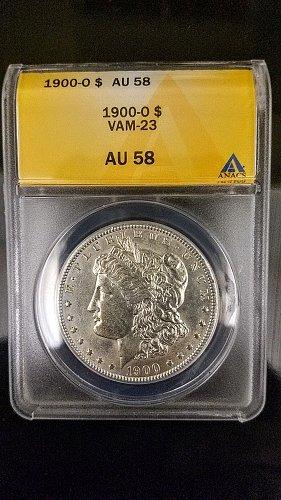 1900 O Morgan silver Dollar AU-58 VAM-23 LOW POP