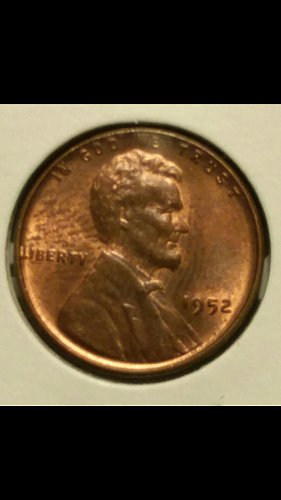 1952-P penny (Lincoln crying)