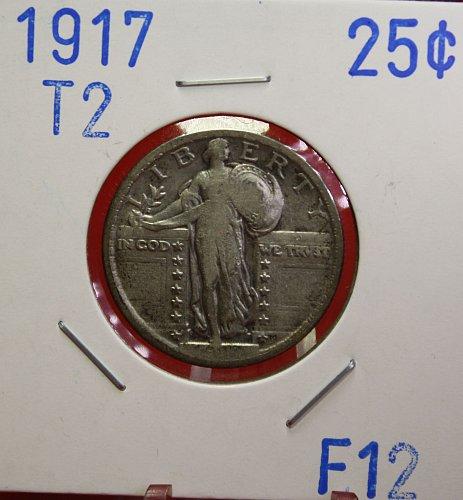 1917 T2 STANDING LIBERTY QUARTER