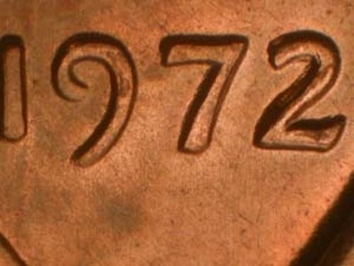 Lincoln Cent 1972 Rare WDD0- 004