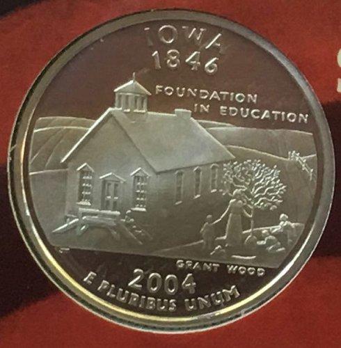 2004 S SILVER PROOF IOWA STATE QUARTER