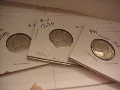 3-nickels 1939,39s,39d