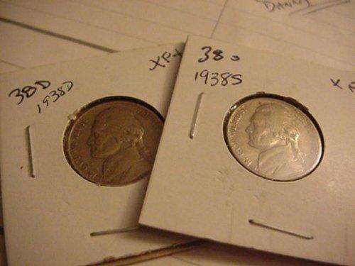 2- nickels 1938 d&s