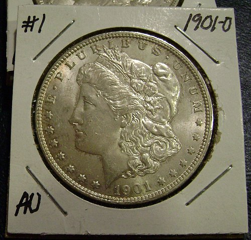 1901-O AU Morgan Silver Dollar #1 Free Shipping