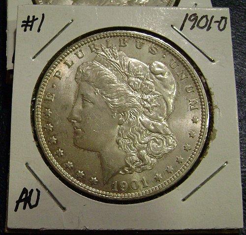 1901-O AU Morgan Silver Dollar #1 Free Shipping