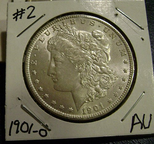 1901-O AU Morgan Silver Dollar #2 Free Shipping