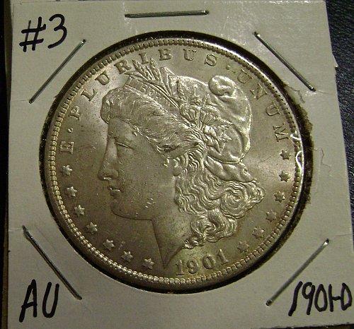 1901-O AU Morgan Silver Dollar #3 Free Shipping