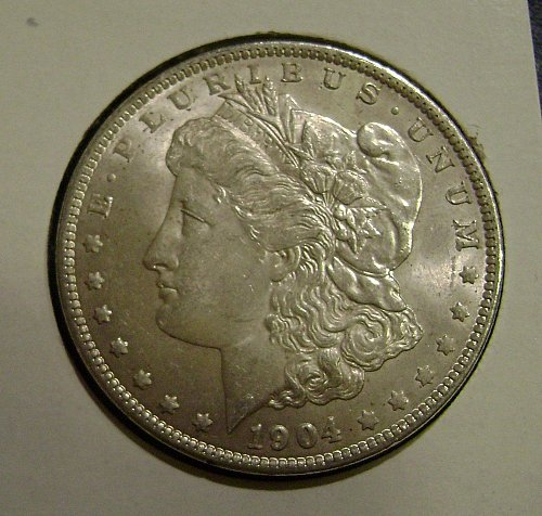 1904-O AU Morgan Silver Dollar Free Shipping