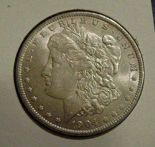 1904-O AU Morgan Silver Dollar Free Shipping