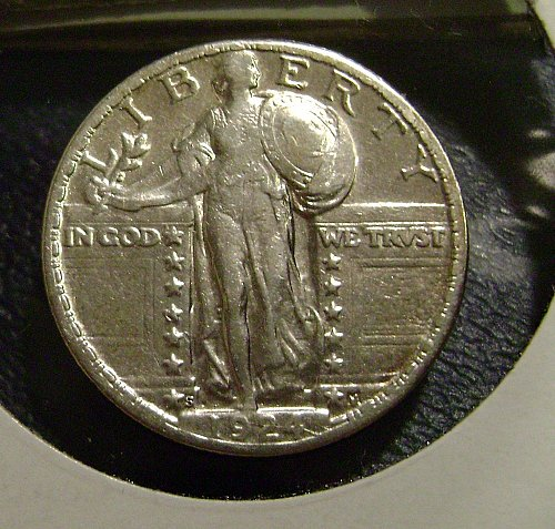 1924-S Standing Liberty Quarter #2 Free Shipping