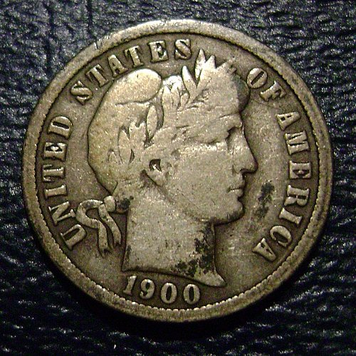 1900-O VG Very Good Barber Dime Free Shipping