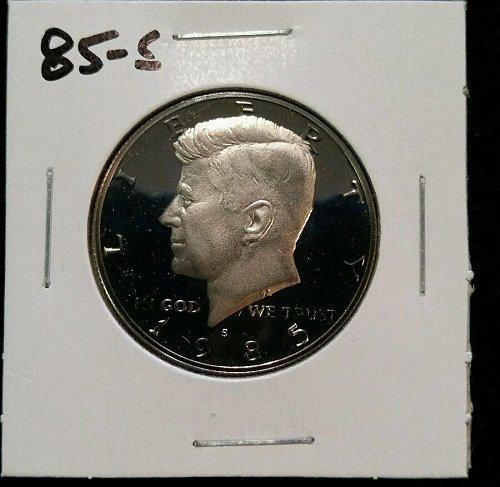 1985s proof half dollar