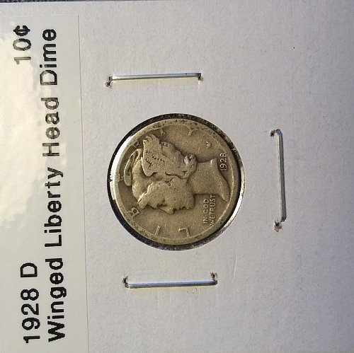 1928 D Winged Liberty Head Dime