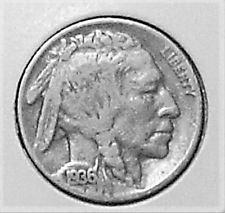 1936 buffalo nickel fine+