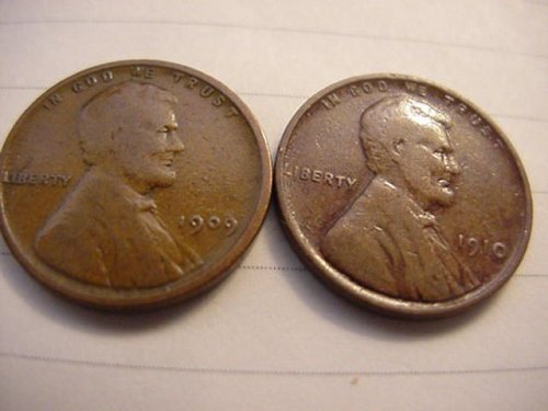 4-early pennys 1909,10,11,12