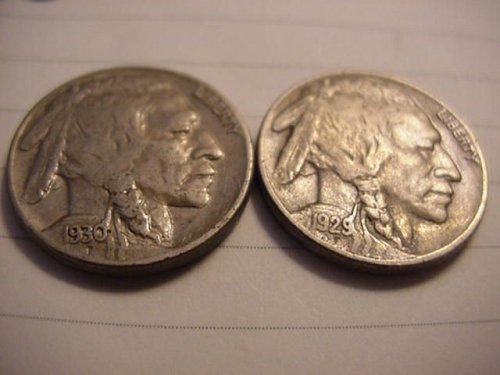 1929s and 1930s buffalo nickels nice
