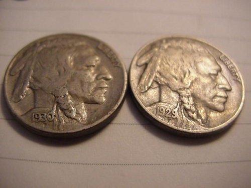 1929s and 1930s buffalo nickels nice