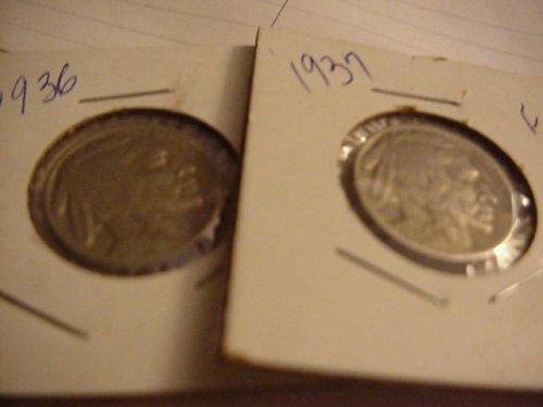 1936 & 1937 nickels
