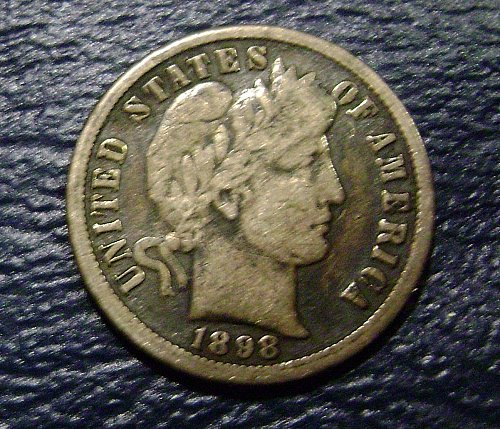 1898-O VG Very Good Barber Dime Free Shipping