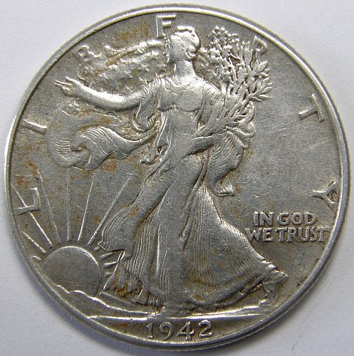 1942 P Walking Liberty Half Dollar #3