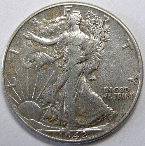 1942 P Walking Liberty Half Dollar #3