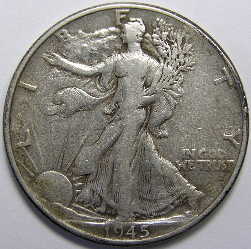 1945 P Walking Liberty Half Dollar #3