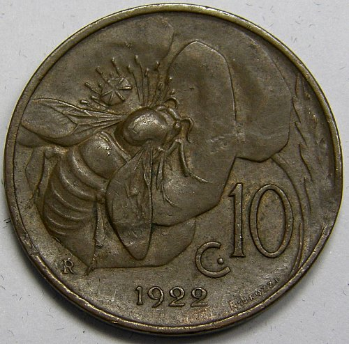 1922 Italy 10 Centimes