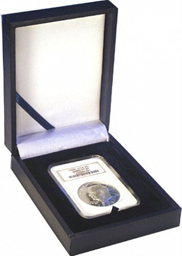 Single Slab Leatherette Display Box Holds Older NGC