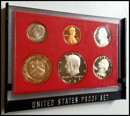 1982 Original 6 Coin U.S. Proof Set - San Francisco Minted: Original Packaging