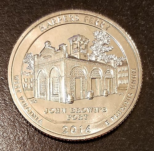 2016-S Harper's Ferry Quarter - From Mint Roll (6490)