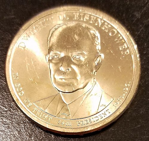 2015-P Dwight Eisenhower Presidential Dollar - From US Mint Roll (6499)