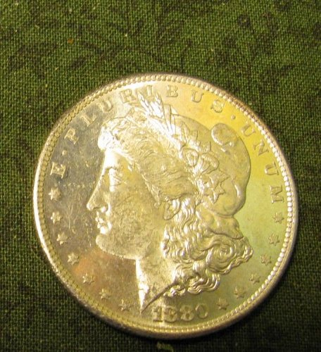 1880-S Morgan Silver DollarGEM BU#63