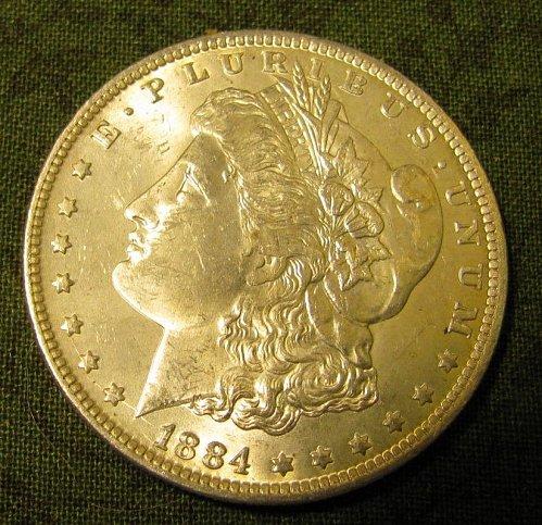 1884-O Silver Dollar-Morgan  Gem BU-- ROCK BOTTOM// #65