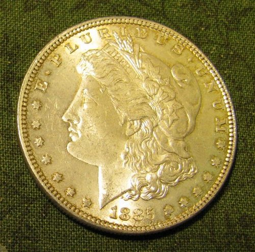 1885-P Morgan Silver Dollar GEM BU #66