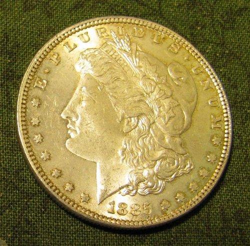 1885-P Morgan Silver Dollar GEM BU #66