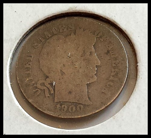 1900-S Early Silver Circulated Dime