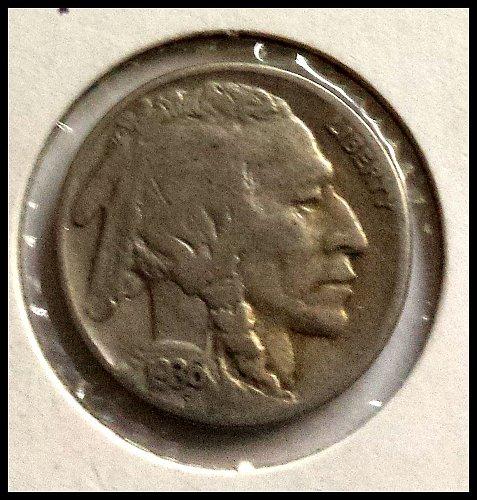 1936-S Indian Head Buffalo Nickel: Line Type