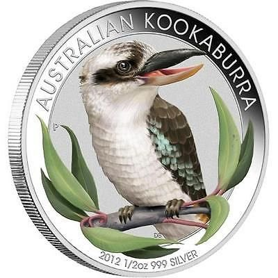 2012 Australian Outback Colorized 3-Coin, Proof 1/2 oz .9999 Silver Coin Set