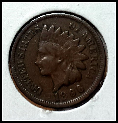 1896 circulated Indian Head Penny
