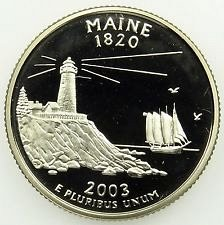 2003 s proof quarter  ME