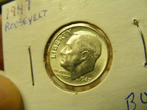 1947 P Silver Roosevelt Dime