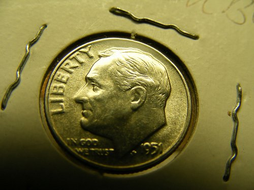 1951 P Roosevelt Silver Dime