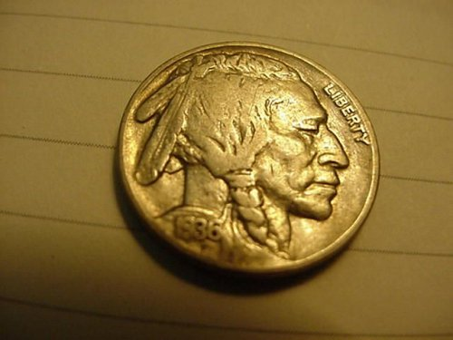 1936 & 1937 nickels..1936 withabout 3/4 horn,1937 with 1/2 horn
