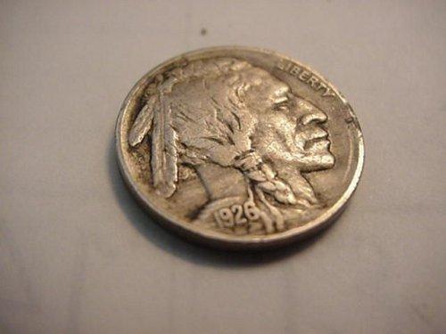1926 buffalo nickel x/f
