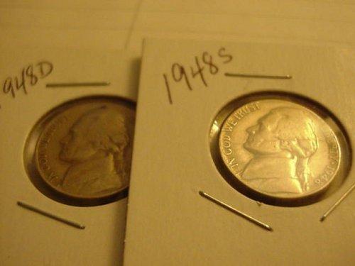 2-nickels 1948D,49S
